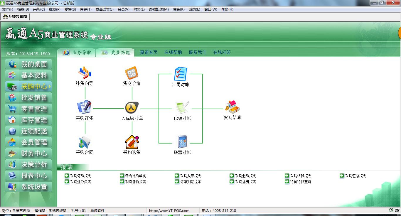 嬴通A5商业管理软件