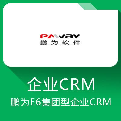 鹏为E6-平台化智能CRM 让管理变得更简单