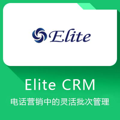 Elite CRM-电话营销中的灵活批次管理